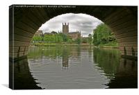 Worcester Cathedral, Canvas Print