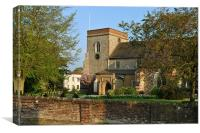 The Church of St Lawrence the Martyr, Abbots Langl, Canvas Print