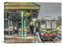 Next Train To Swanage, Canvas Print