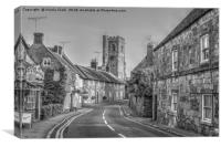 Abbotsbury in Black and White, Canvas Print