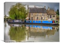 Boats By The Pub, Canvas Print