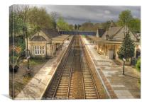 Bradford-on-Avon Railway Station, Canvas Print
