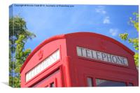 Traditional Red Telephone Box, Canvas Print