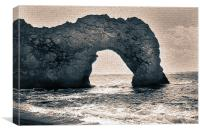 Old Painting of Durdle Door, Canvas Print