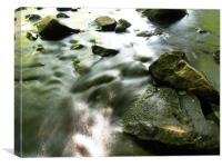 The river Roe face down, Canvas Print
