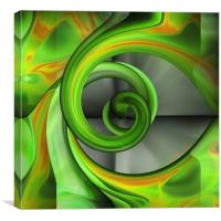 With A Twist (of green), Canvas Print
