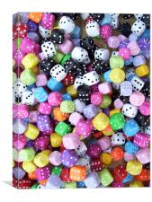 The dice are cast., Canvas Print