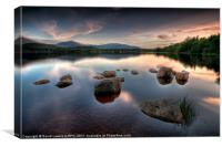 Loch Morlich - Sunset, Canvas Print
