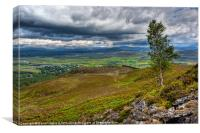 Kingussie and the Cairngorms, Scottish Highlands, Canvas Print