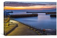 Seaham Harbour, Canvas Print