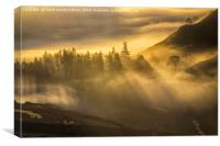 Cloud Inversion and Sun, Canvas Print