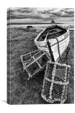 Lindisfarne & Lobster Pots, Canvas Print