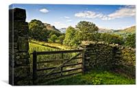 Martindale by Ullswater, Canvas Print