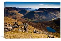 Red Pike and Bleaberry Tarn, Canvas Print