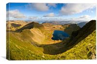 Swirral Edge, Red Tarn & Striding Edge, Canvas Print