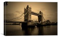 Tower bridge sepia, Canvas Print