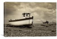 Fishing Boat, Dungeness, Kent, Canvas Print