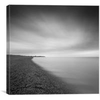 Aldeburgh beach at dawn, looking towards Sizewell,, Canvas Print