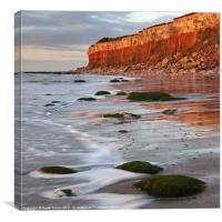 Hunstanton cliffs at Sunset, Norfolk, Canvas Print