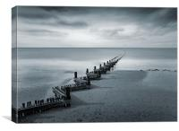 Hunstanton Beach, Norfolk, Canvas Print