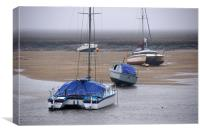 Boats at Wells-Next-the-Sea, Canvas Print