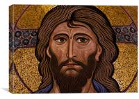 Christ mosaic, Cefalu Cathedral, Sicily, Canvas Print