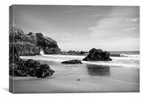 Lydstep Cavern Beach Pembrokeshire, Canvas Print
