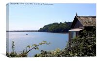 Dylan Thomas.The Writing Shed. Boat. Laugharne., Canvas Print