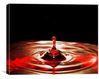 Water Droplet, Canvas Print