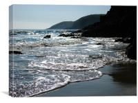 Sparkle Cove.Lydstep,Tenby.Wales., Canvas Print