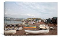 Little Boats of Teignmouth Beach, Canvas Print