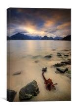 9pm, Elgol , Skye, Canvas Print