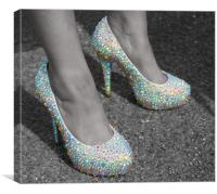 These Shoes Were Made for Walking in, Canvas Print