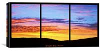 Sunset at Croyde Bay, Triptych, Canvas Print