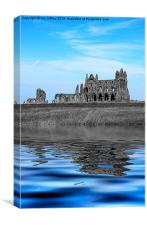 Whitby Abbey Isolation, Canvas Print