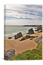 View of Bedruthan Steps, Cornwall, Canvas Print