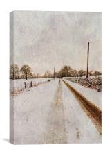 The long road home, Canvas Print