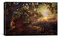 The Watchers in the Woods, Canvas Print