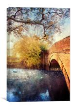 Bridge over troubled water, Canvas Print