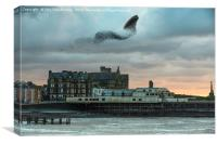 Starlings at Aberystwyth pier, Canvas Print