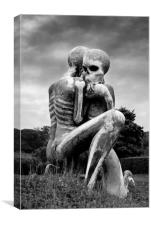 Nuba Embrace Sculpture, Canvas Print