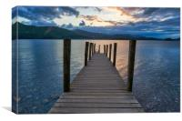 Ashness Jetty Cumbria, Canvas Print