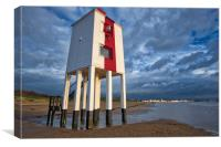 Burnham on sea light house, Canvas Print