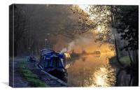 Kennet narrow boats, Canvas Print