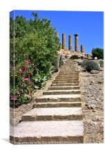 Temple of Juno, Agrigento, Canvas Print