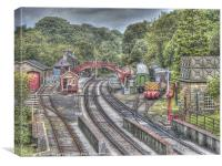 Goathland Railway Station & Sidings, Canvas Print