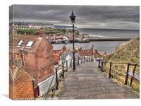 Whitby On a Cloudy Day, Canvas Print
