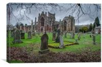 St Mary's Abbey, Melrose in the Scottish Boarders, Canvas Print