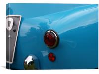 Blue Isetta bubble car rear light, Canvas Print