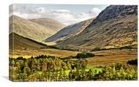 View over Rannoch Moor 2, Canvas Print
